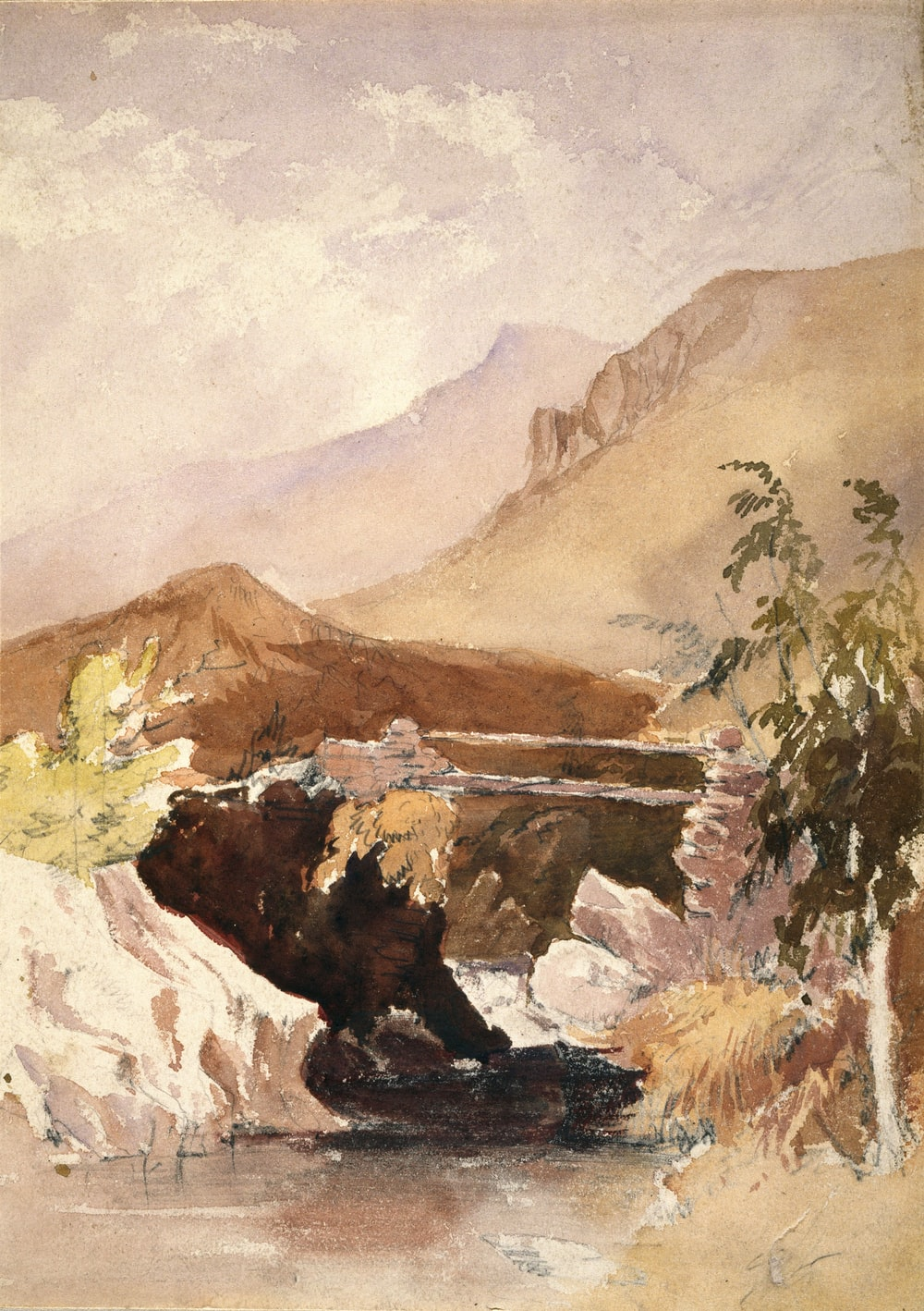 painting of hill
