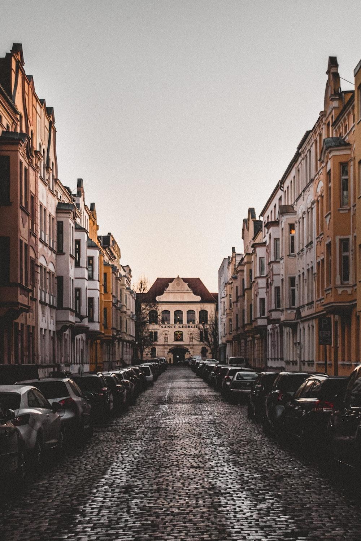 brown buildings