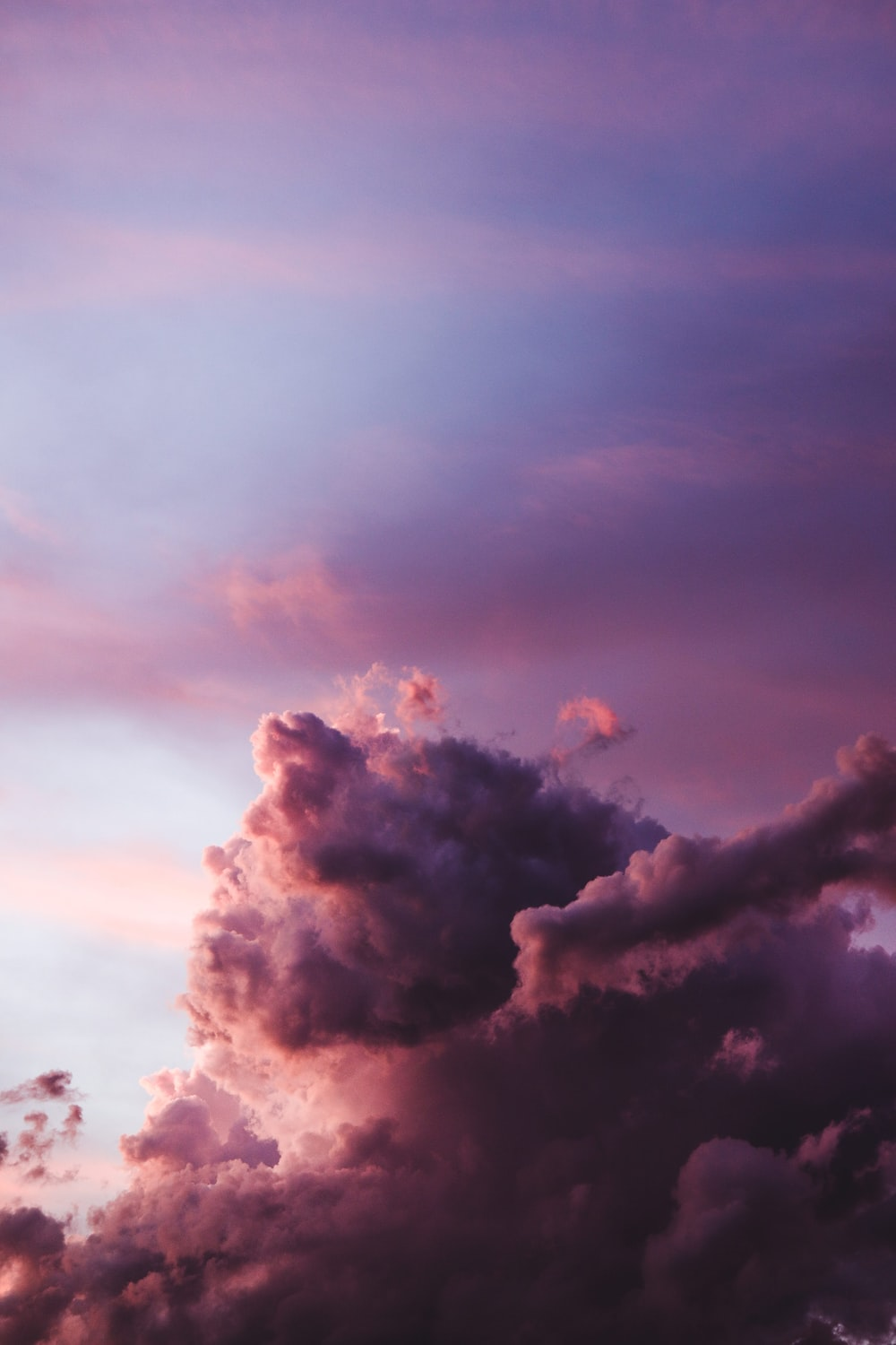 cloudy sky during golden hour