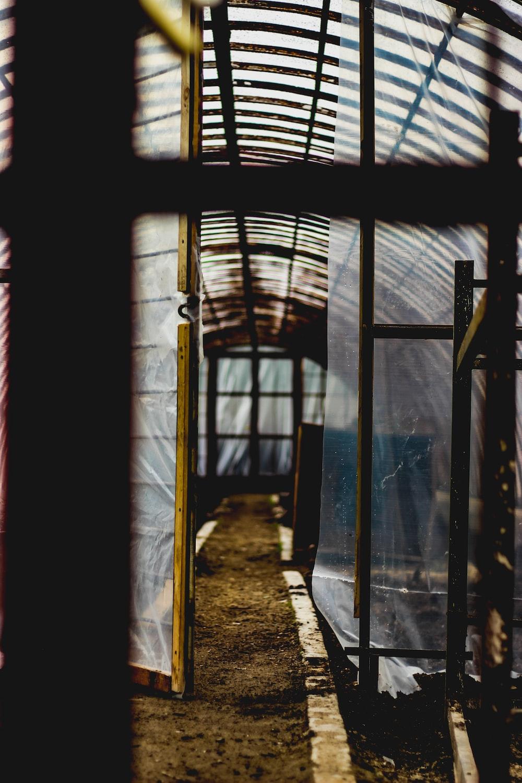 brown framed structures