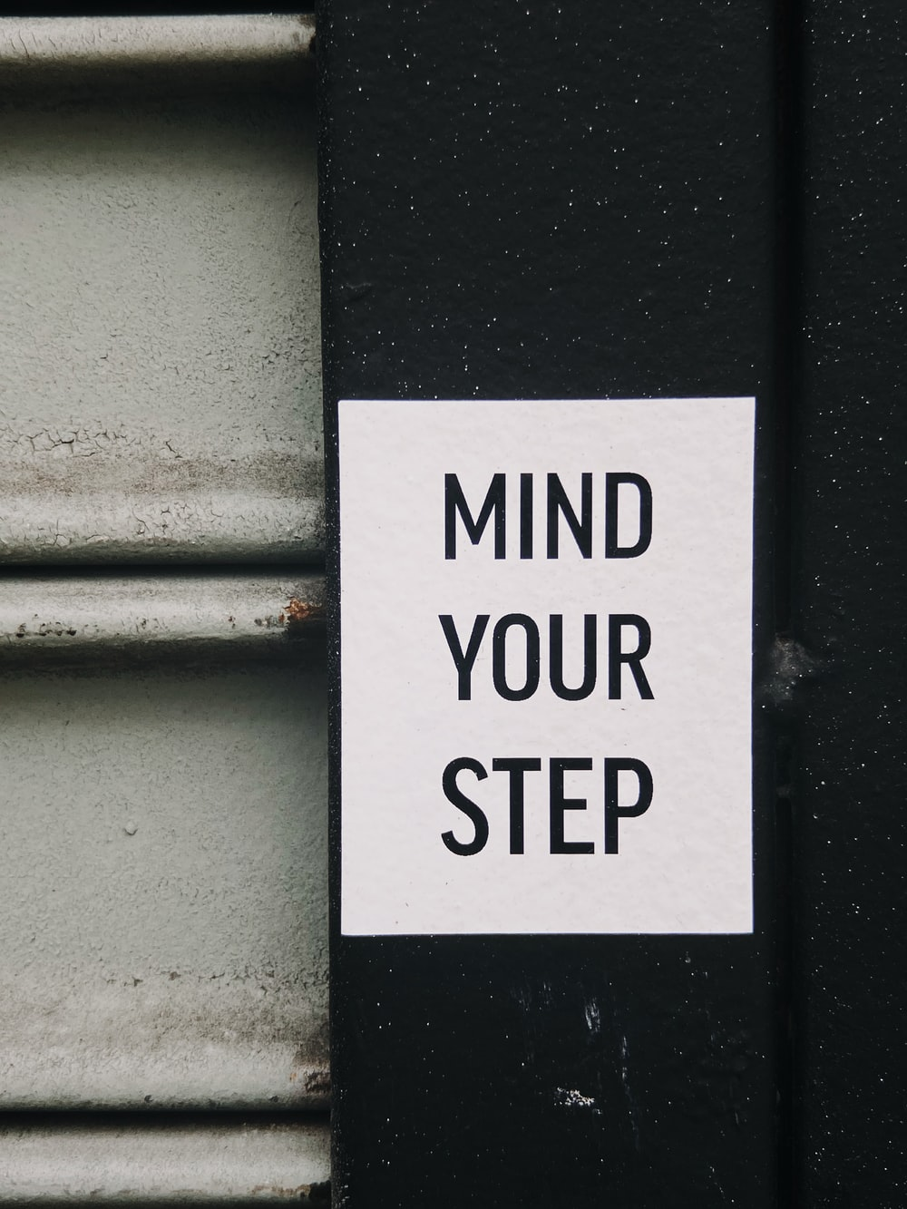 mind your step text