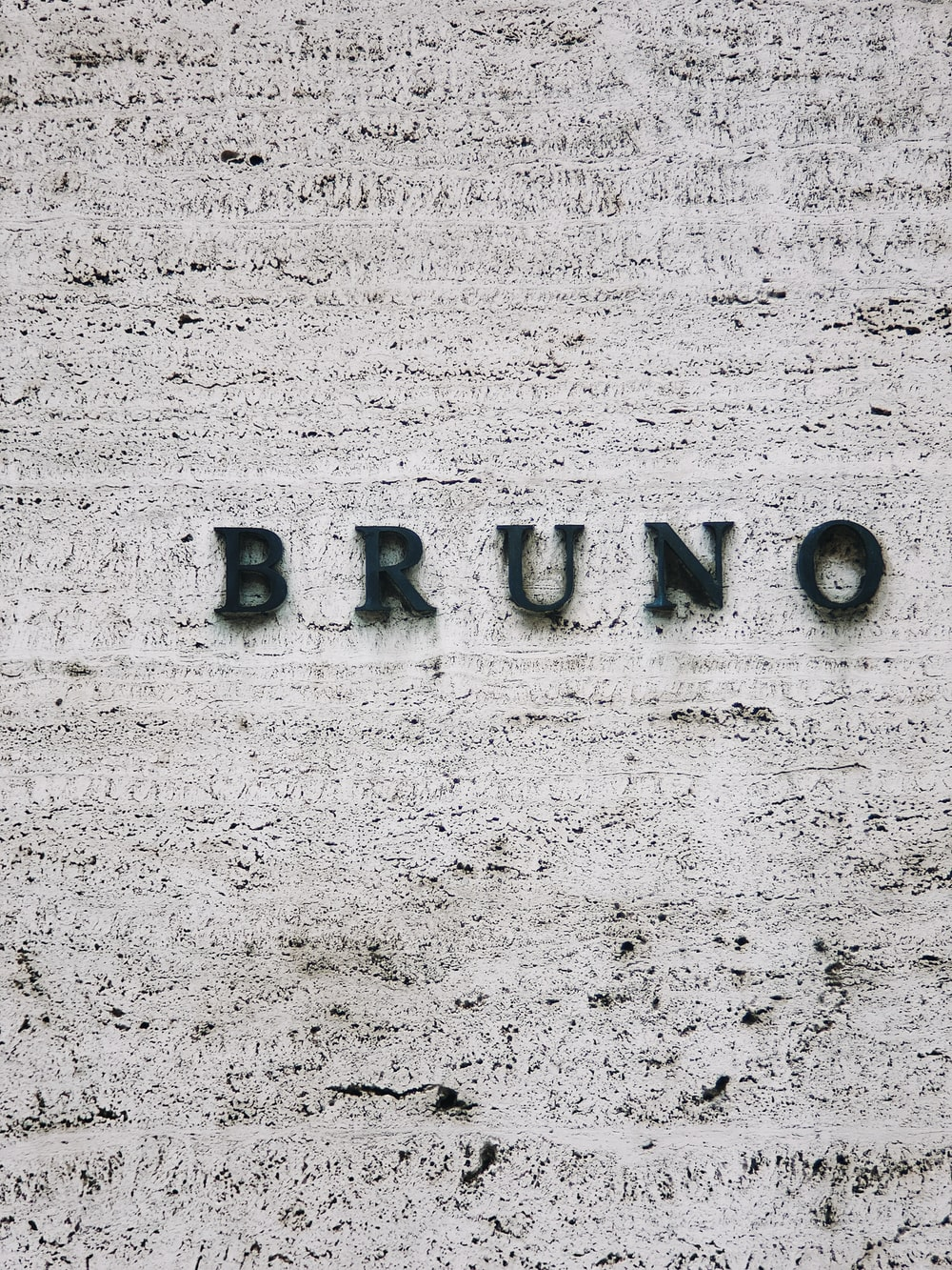Bruno text on gray background