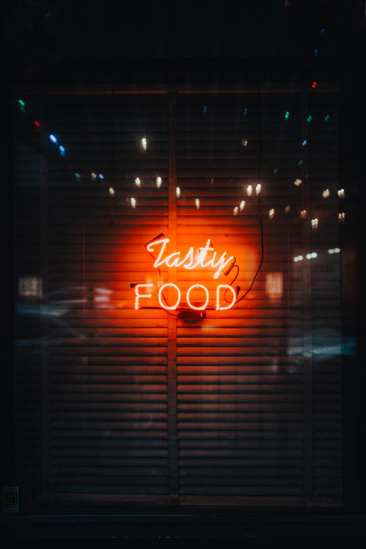 Tasty Food neon signage
