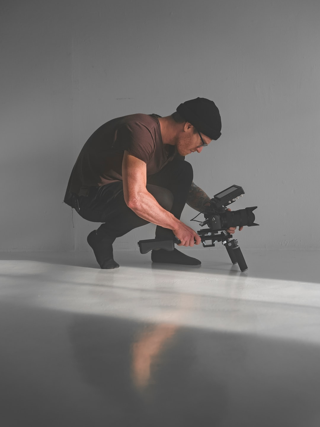 Garin Chadwick filming in a studio Photo by Tyler Chandler