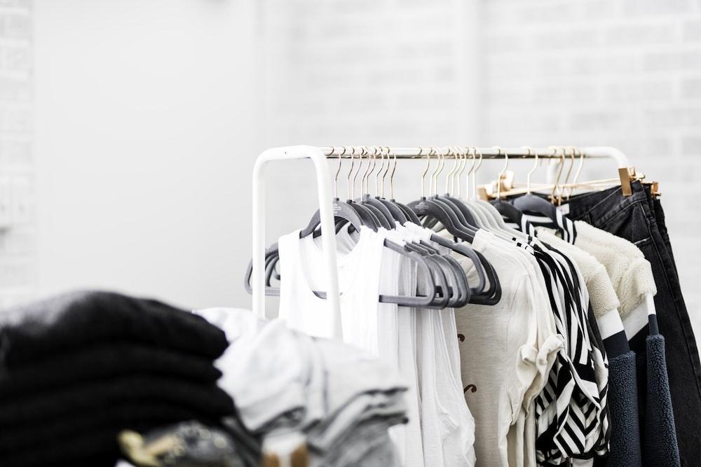 assorted-color apparels