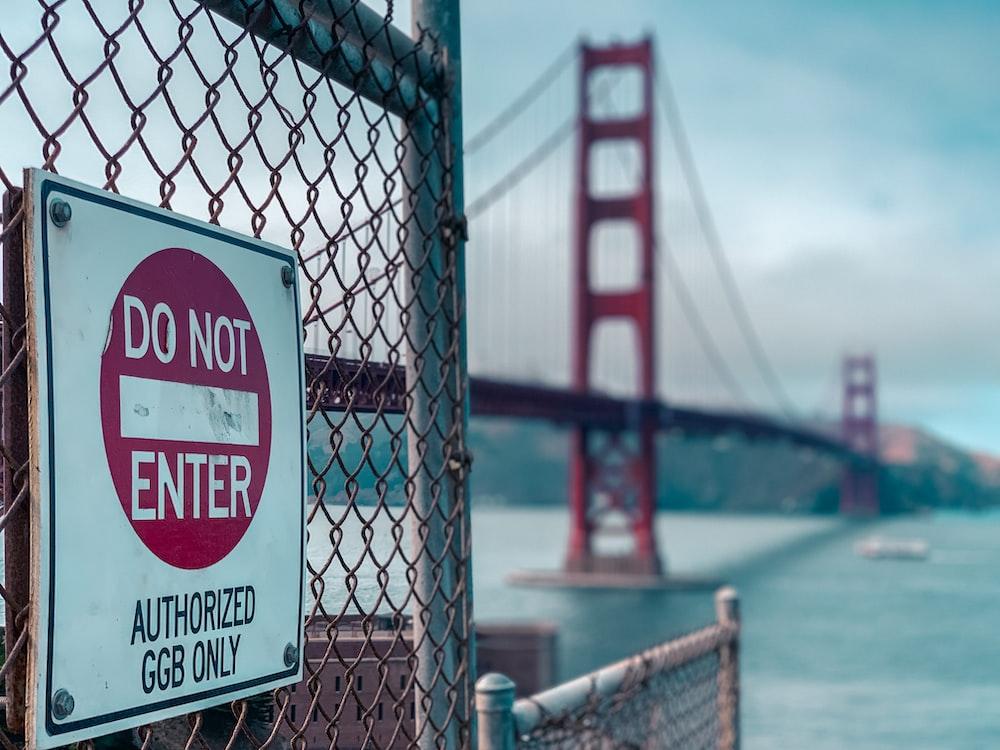 do not enter signage