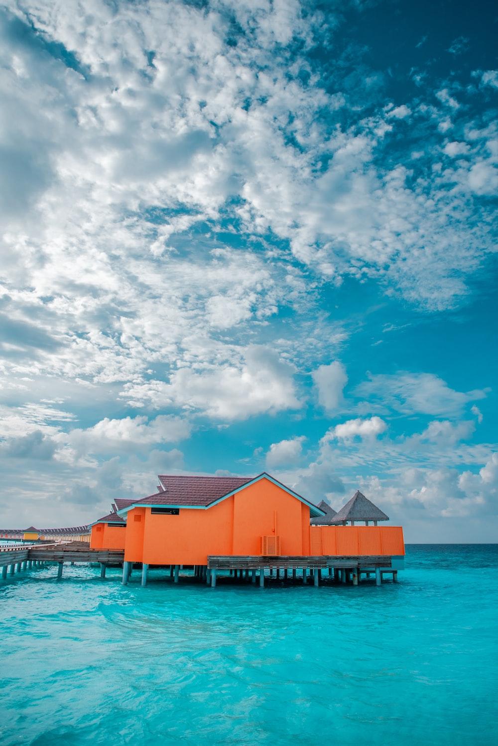 orange and grey house