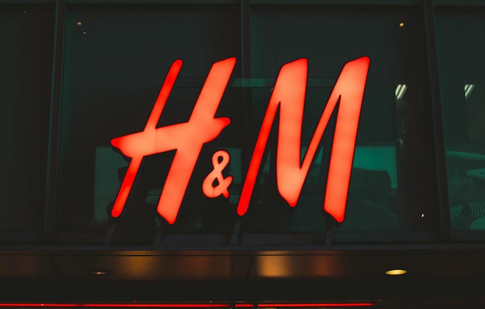 H&M neon signage