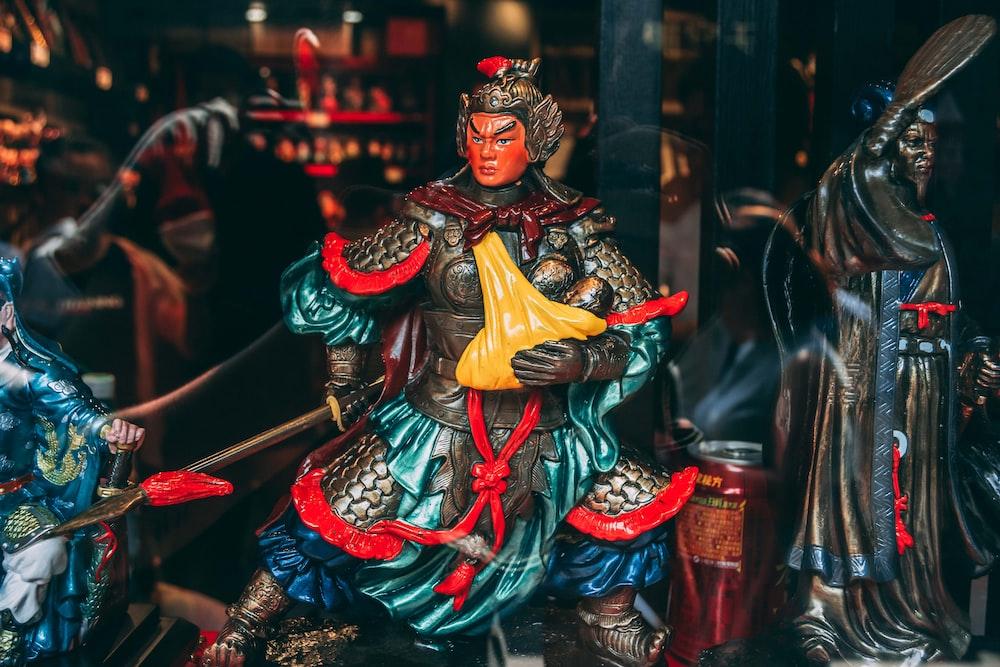 Chinese warrior statuette