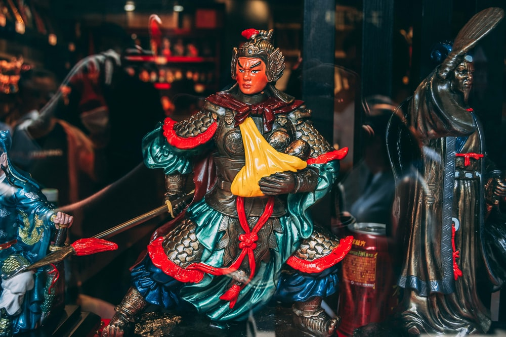 Chinese warrior statuette