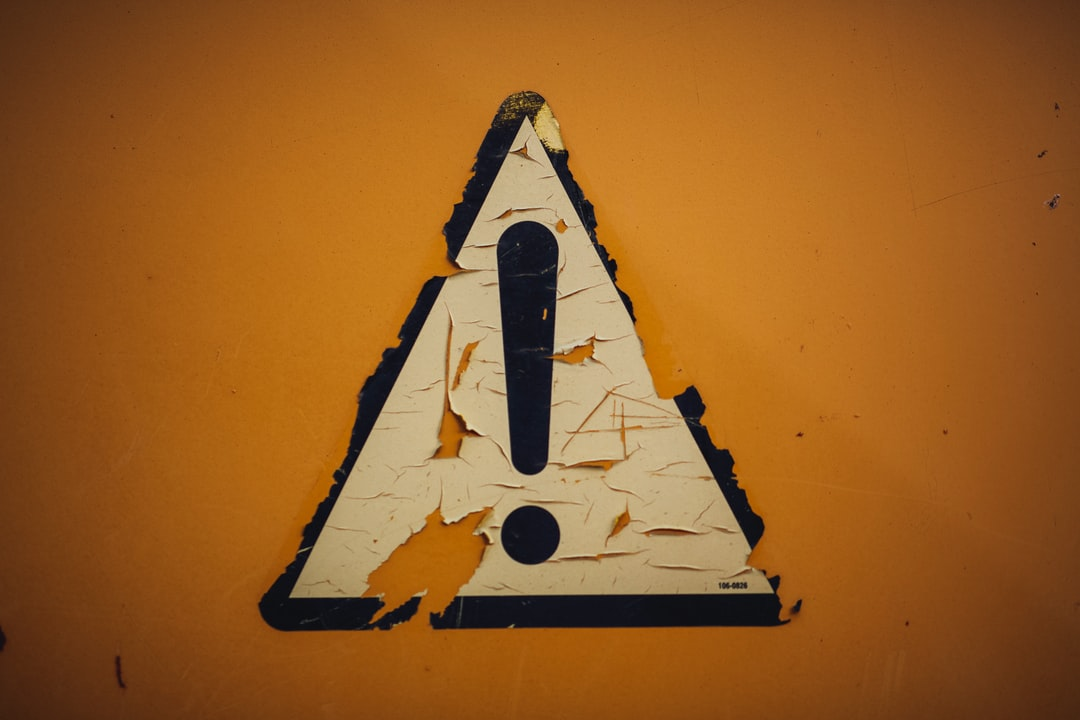 "Rusty metal iron weathered sticker ""caution"" !"