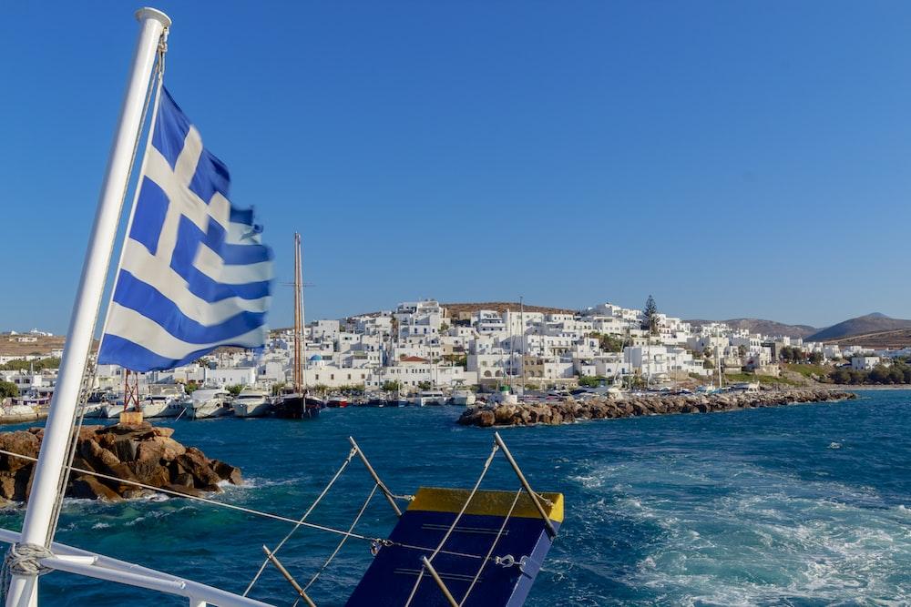 blue and white flag