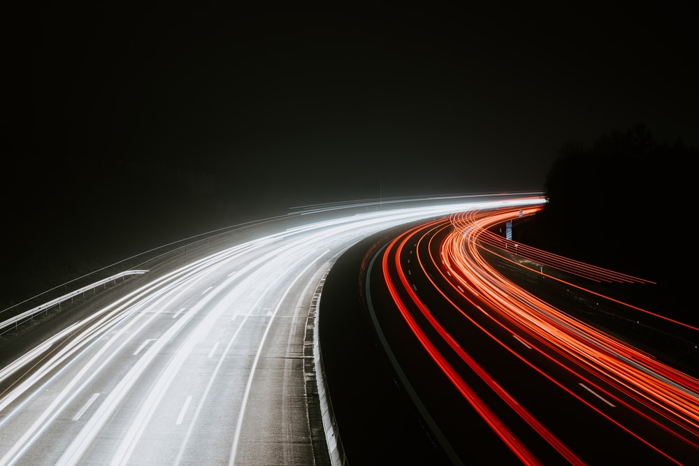 time lapse photography of vehicles