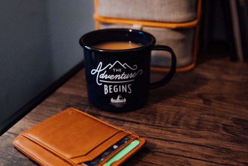 mug near leather