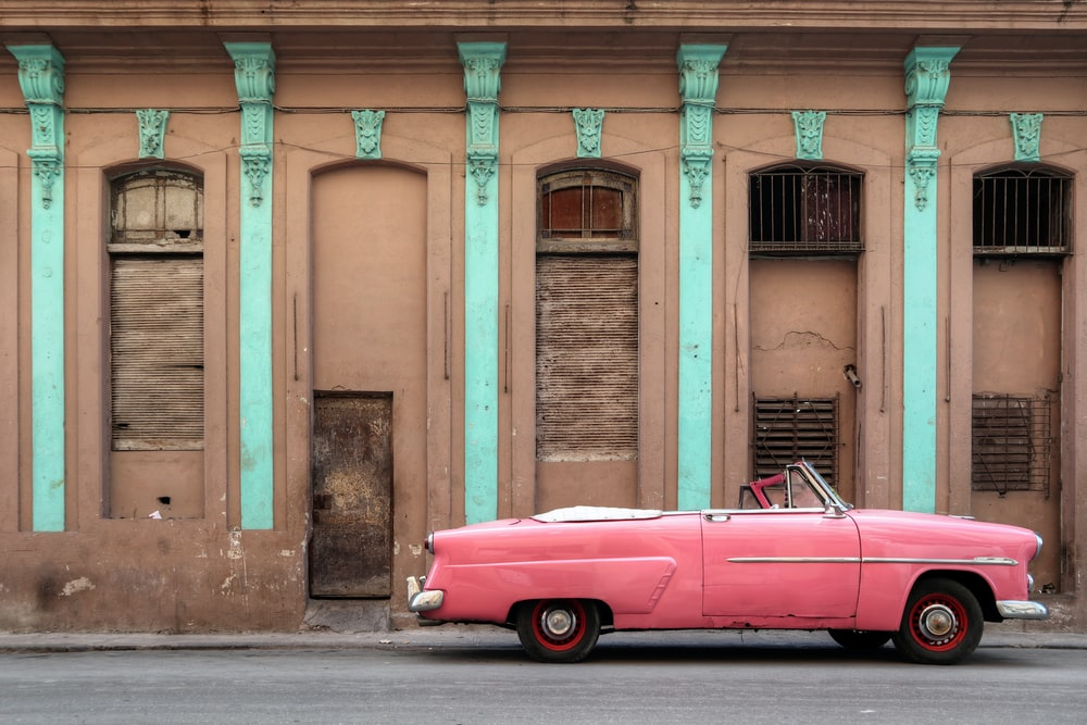 pink convertible coupe