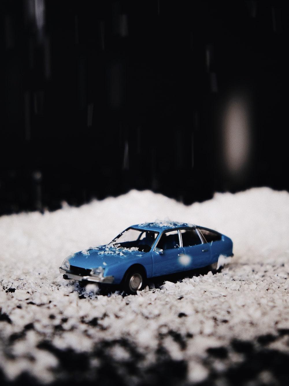 blue car diecast toy