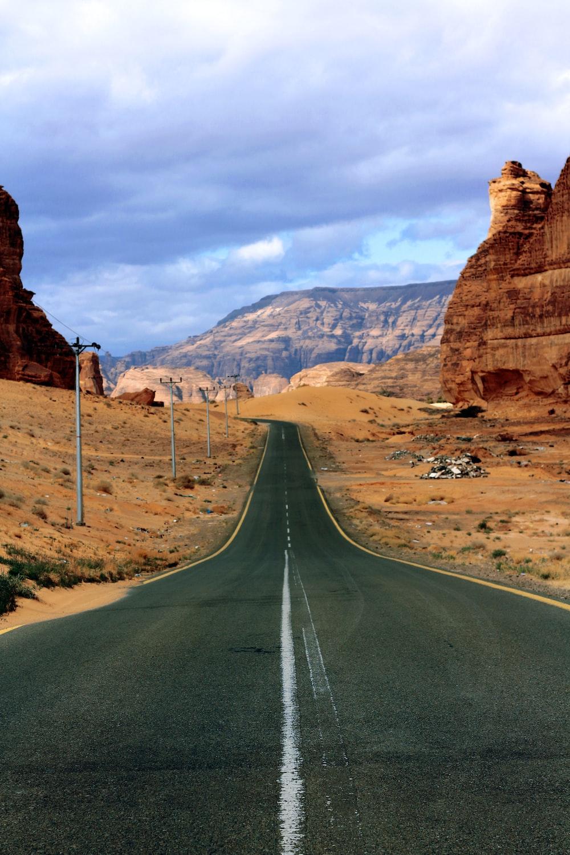 road at canyon during daytime
