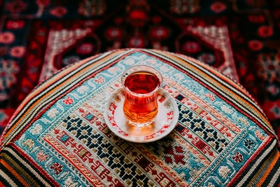 clear turkish tea glass iran teams background