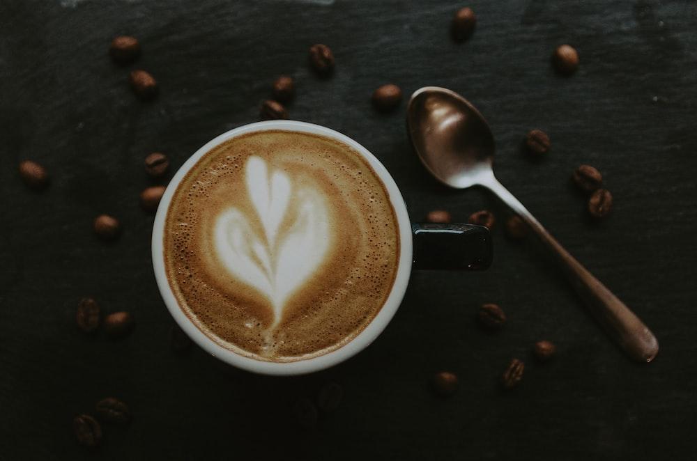 spoon beside mug