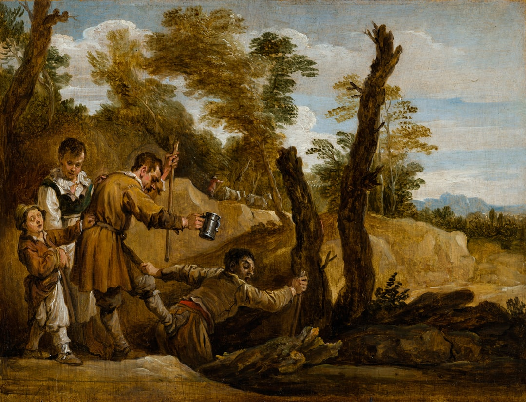The Blind Leading the Blind.  Created by David Teniers the Younger. Circa 1655. Institution: Mauritshuis Provider: Digital Collection Providing Country: Netherlands PD for Public Domain Mark