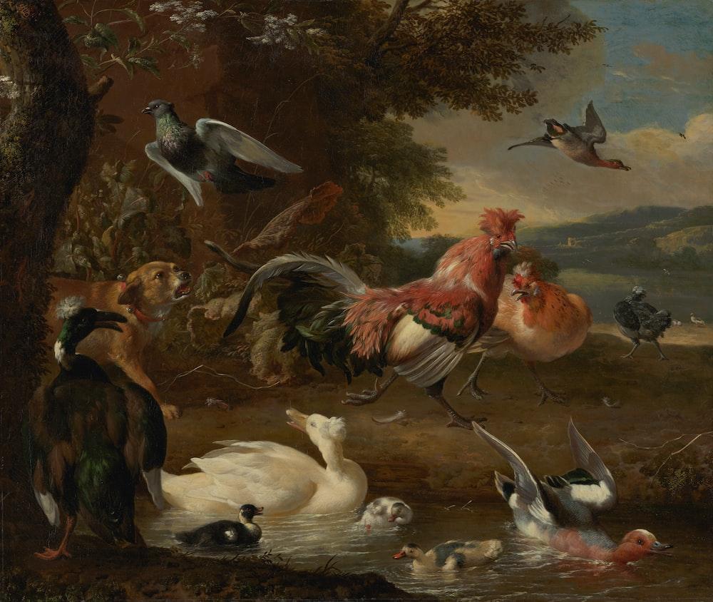 painting of animals
