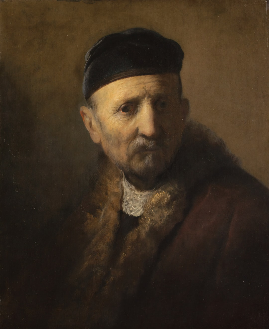 'Tronie' of an Old Man. This painting is a 'tronie', a study of a characterful old man's facial expression. Creator Rembrandt van Rijn. Circa 1630 - 1631. Institution: Mauritshuis Provider: Digital Collection Providing Country: Netherlands PD for Public Domain Mark