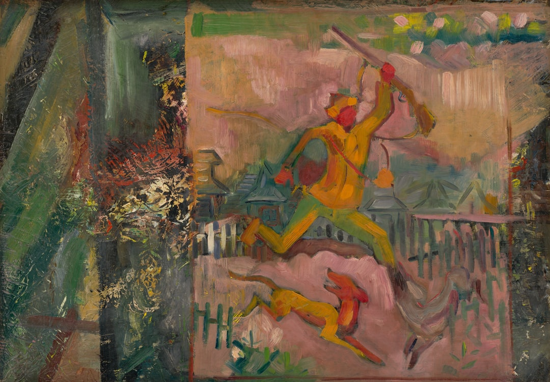 Running Hunter With A Rifle. creator: Weisz-Kubínčan, Arnold Peter. date: 1935. institution: Slovak National Gallery. provider: Slovak National Gallery. providing Country: Slovakia. pd For Public Domain Mark 2 - unsplash