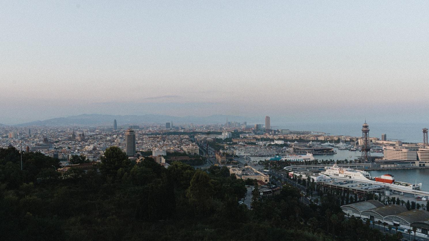 An overview click of Montjuïc