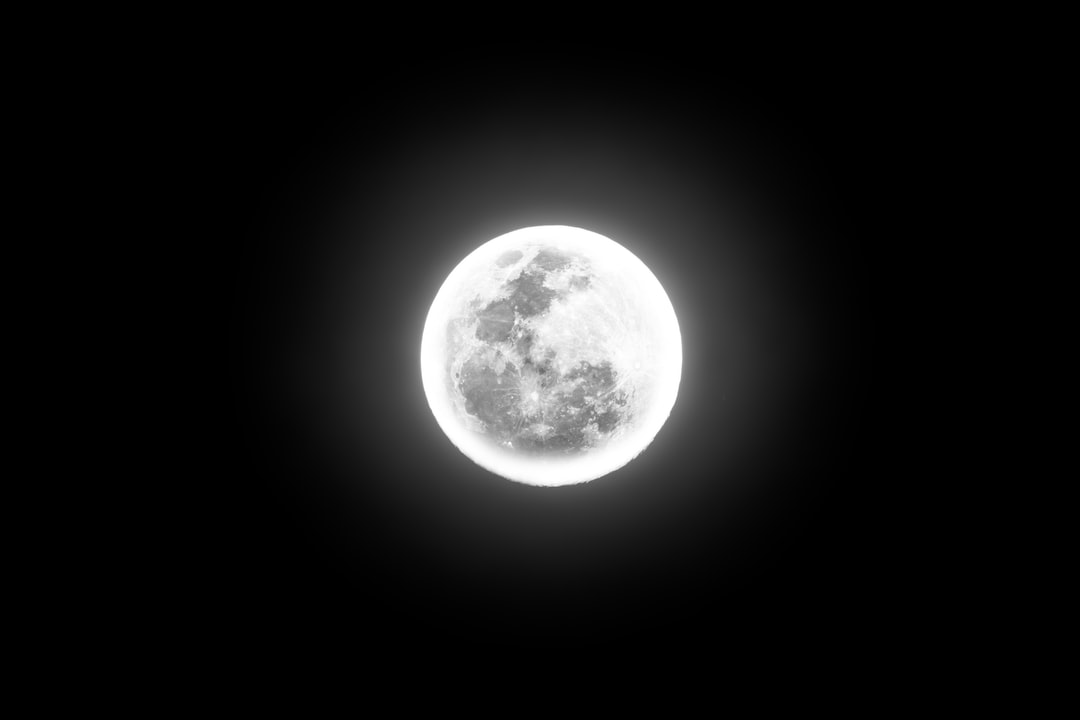 Full moon with a halo