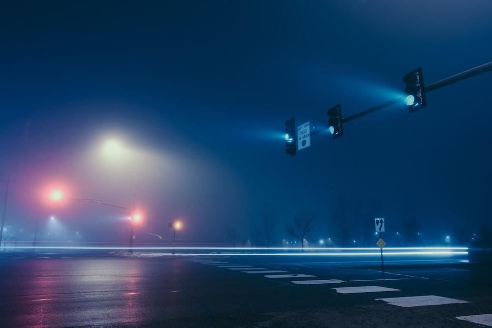 traffic light on road