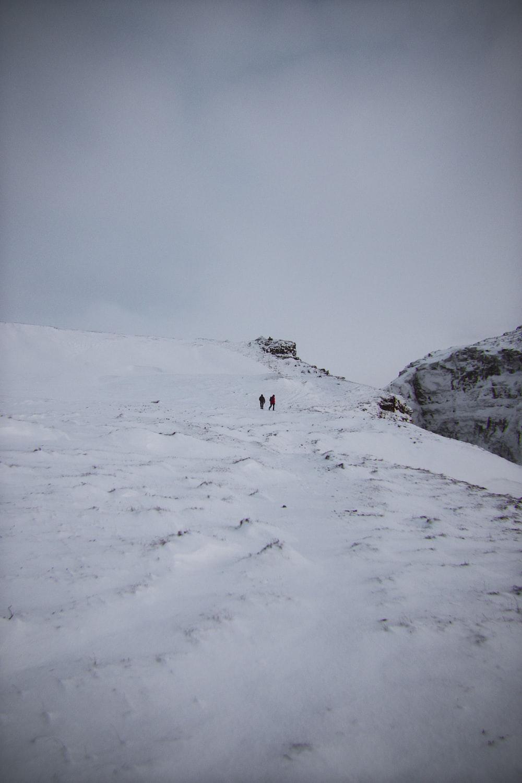 snow field under gray sky
