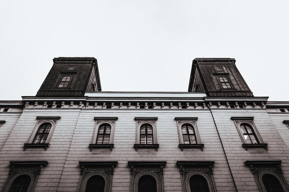 gray 3-storey building