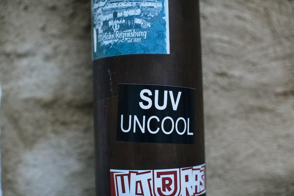SUV Uncool bottle