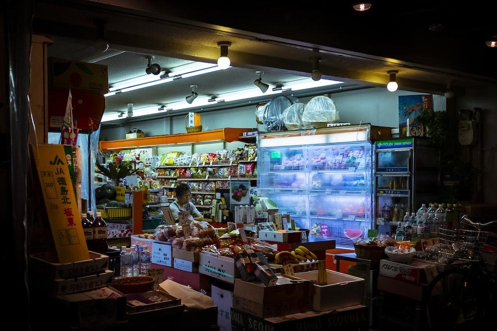 people inside market