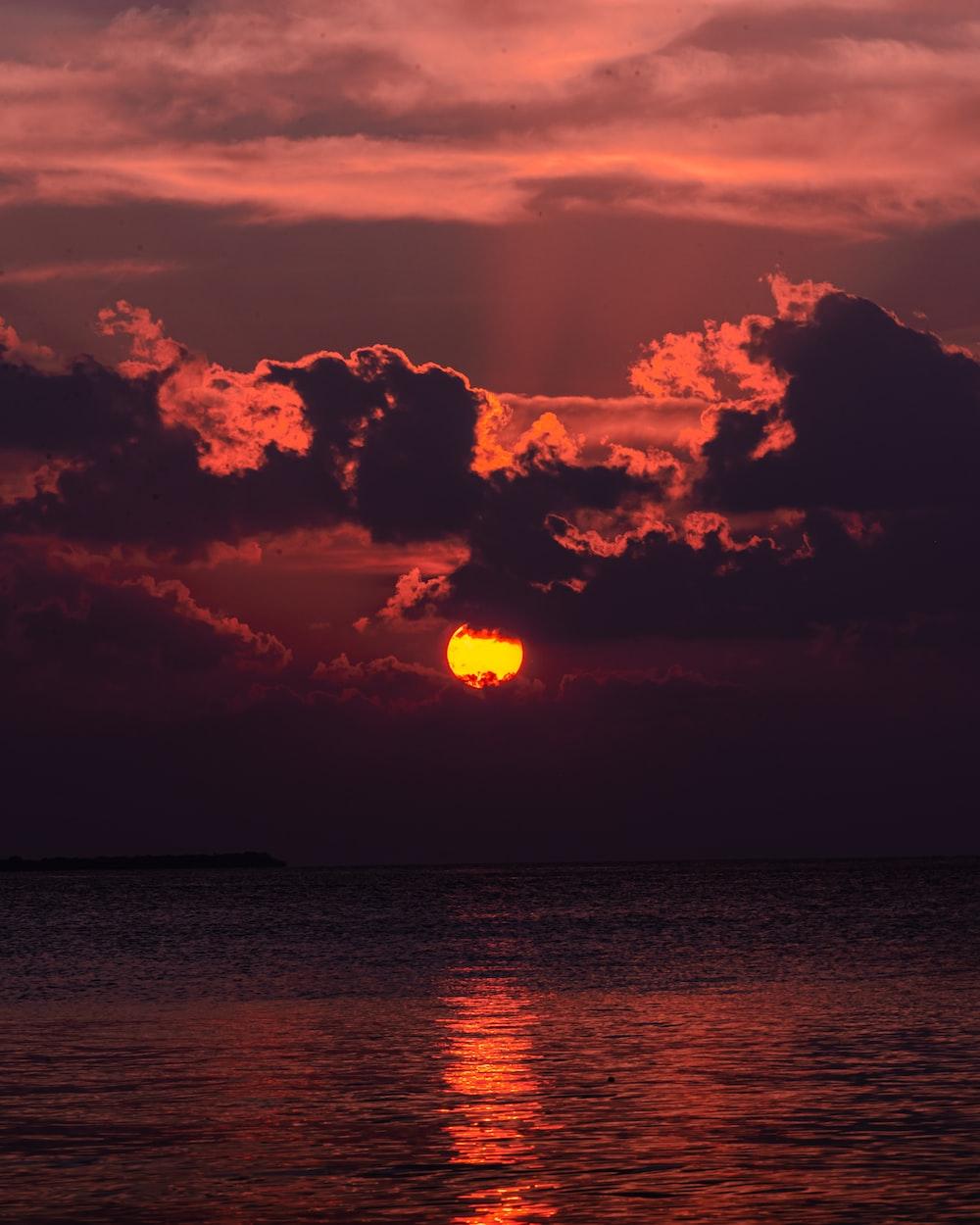 calm of water under golden hour