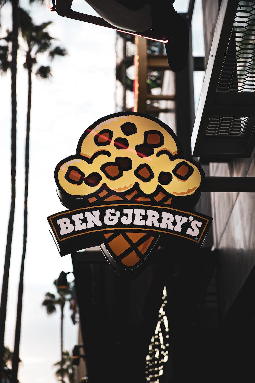 Ben & Jerry's signage