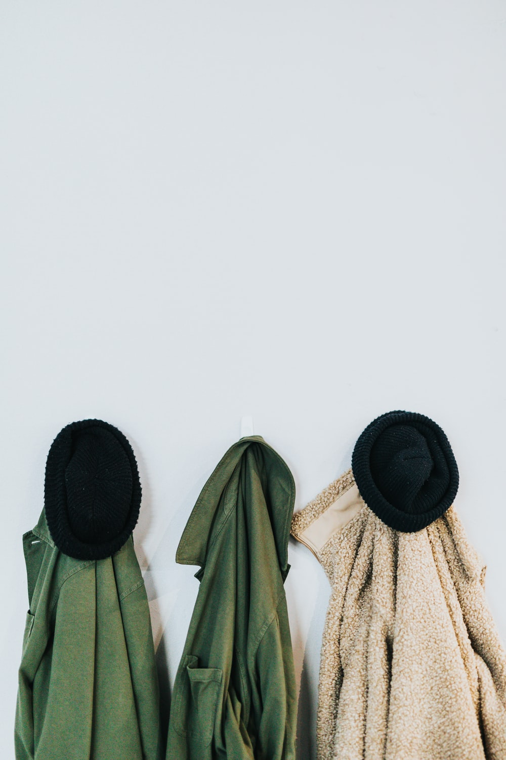hanging jackets on wall