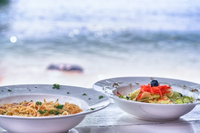 two bowls of food sao tome and principe zoom background