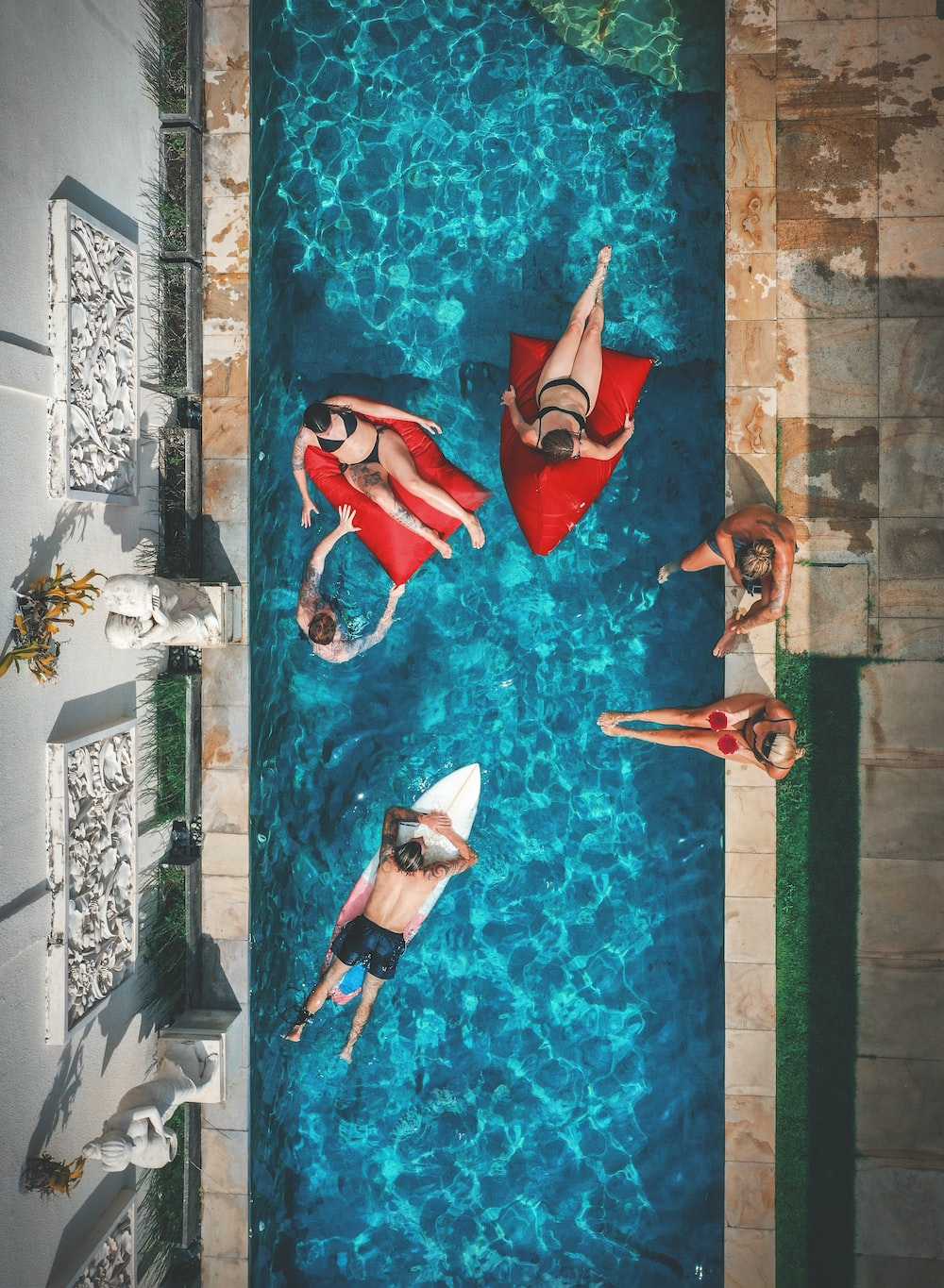 people in pool