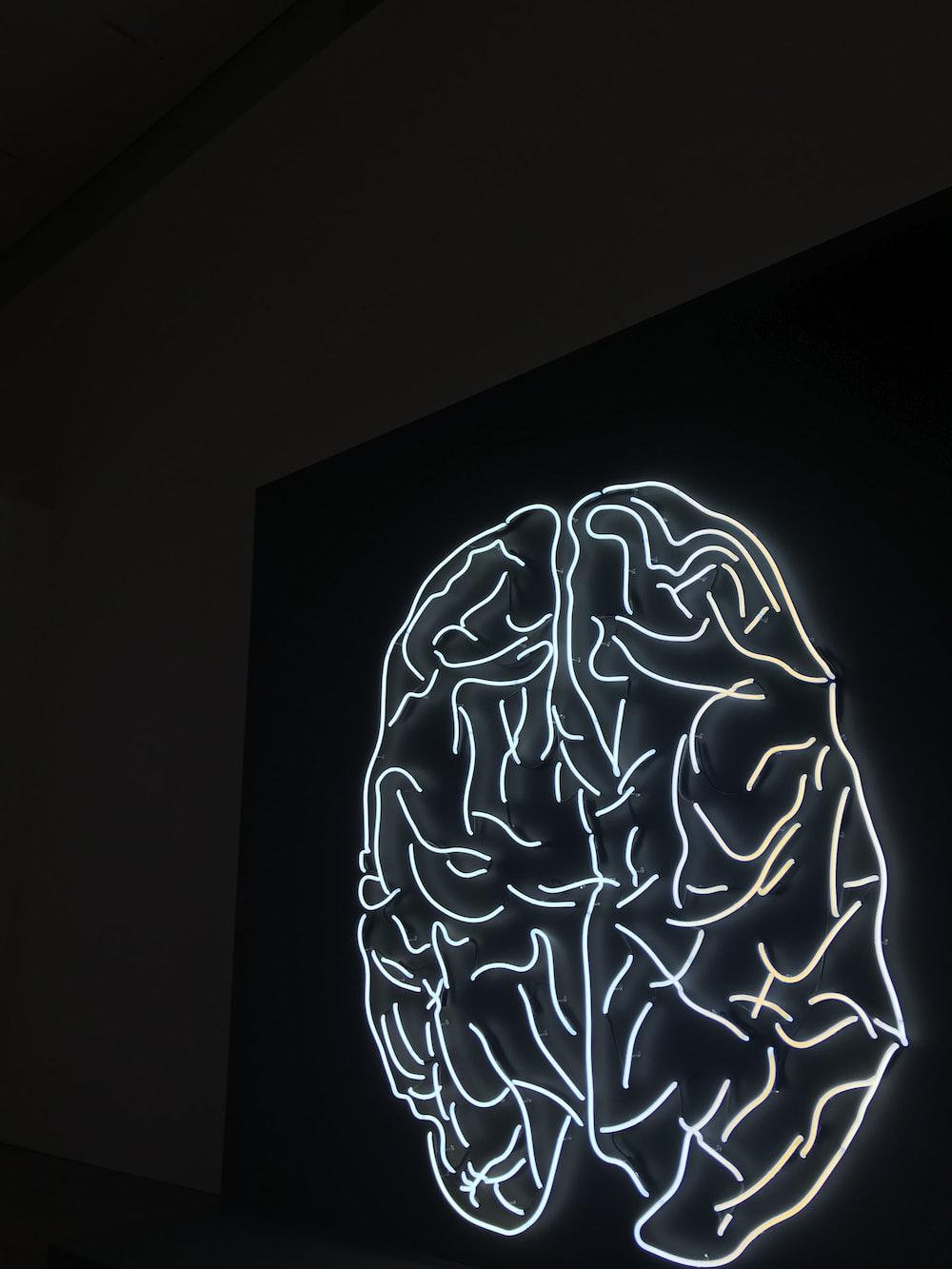 brain LED artwork
