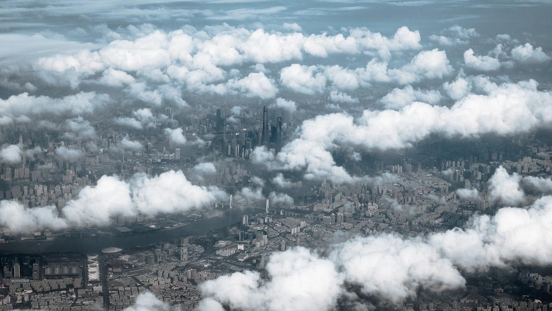 Shanghai Skyline From the Sky. - unsplash