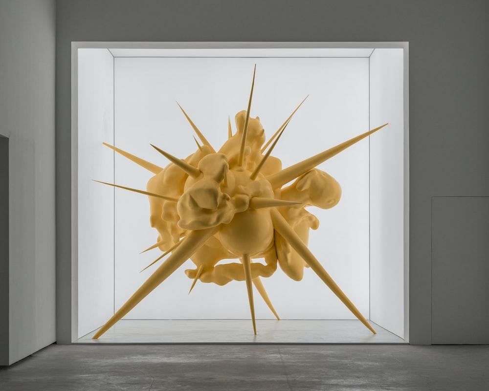 spiky beige decor indoors