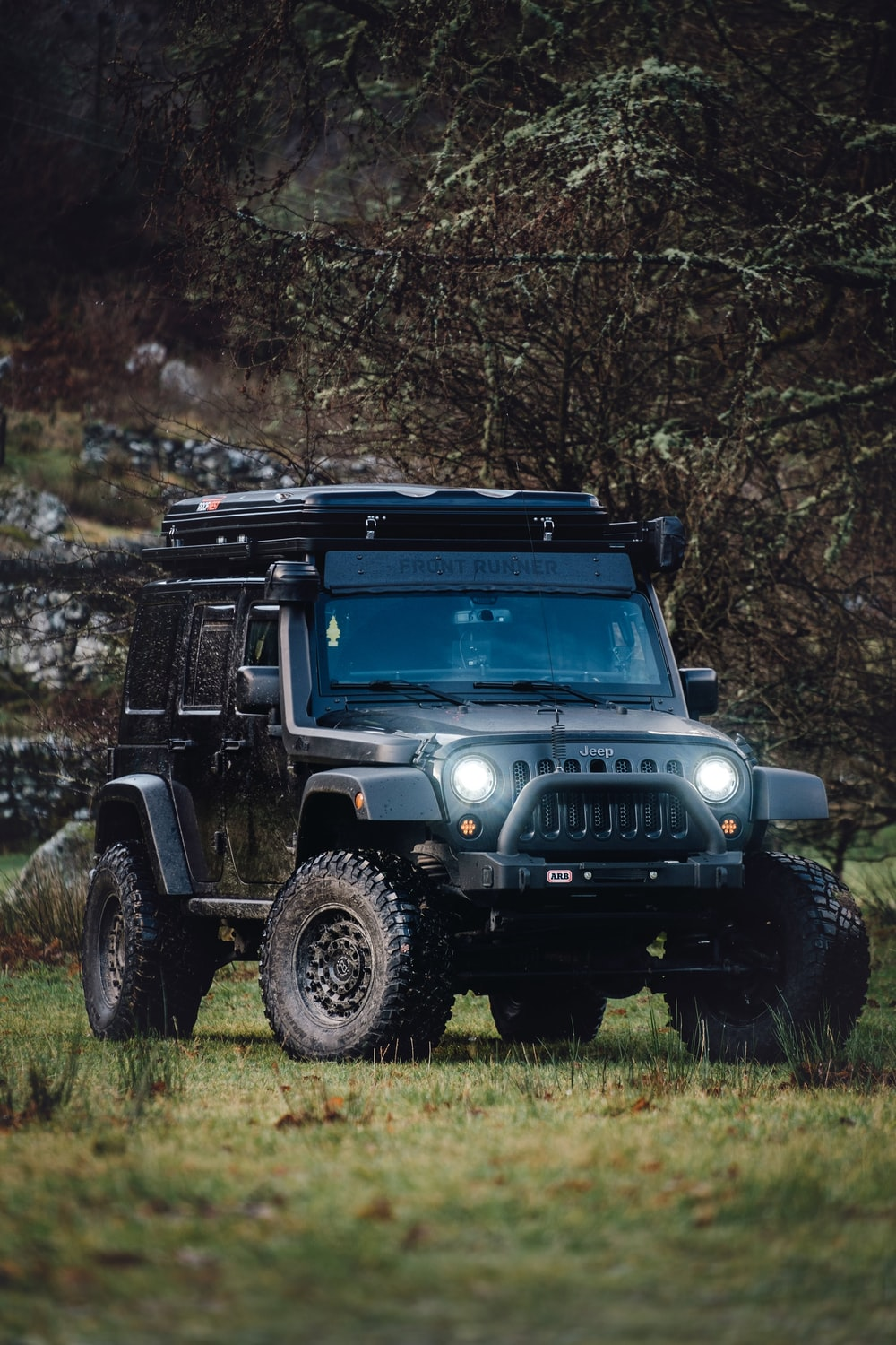 black Jeep Wrangler SUV