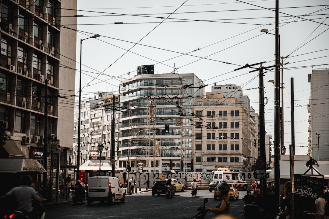 A busy street corner in Athens, Greece!  Instagram: @VisualsByRoyalZ | @RoyalZProduction