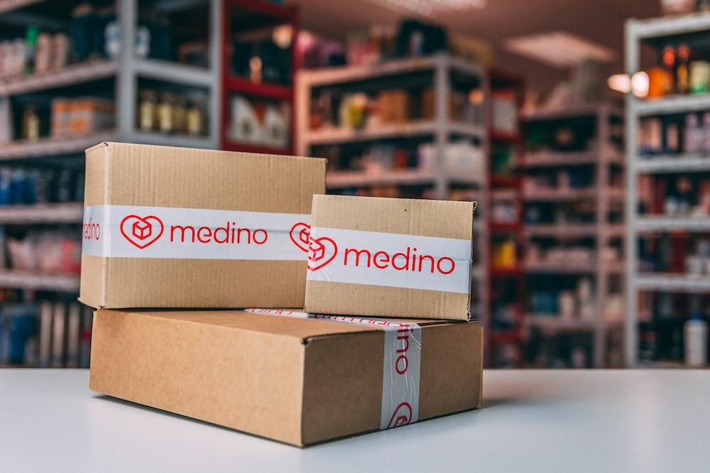 Medino cardboard boxes
