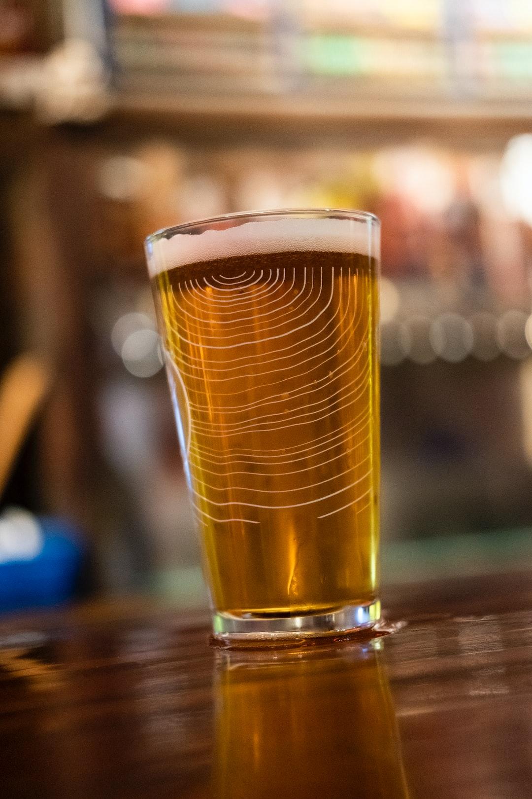 Just a good beer at the bar.