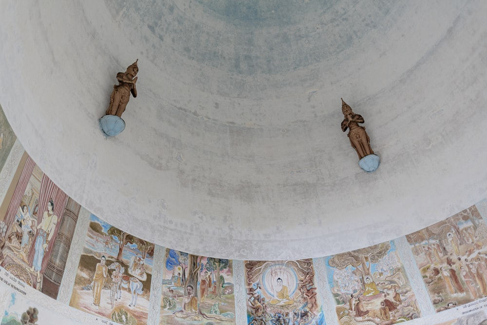 dome ceiling with paintings