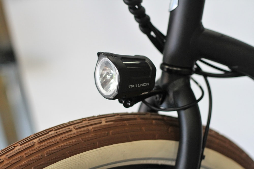 black bike light