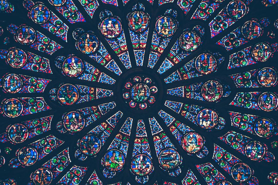 Colorful church vitrals