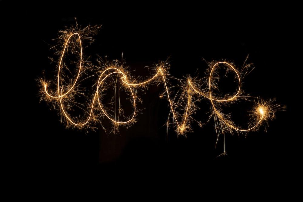 Love firework display